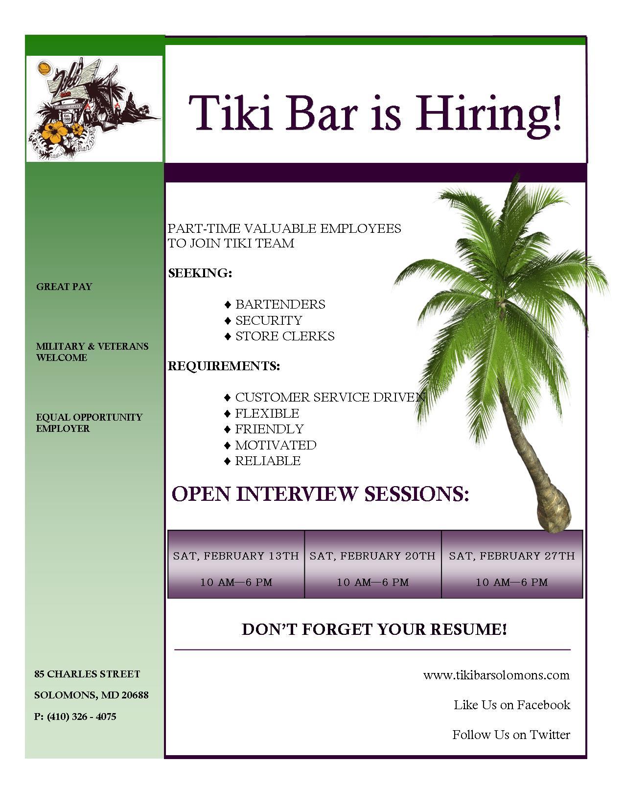 Tiki Hiring 2016
