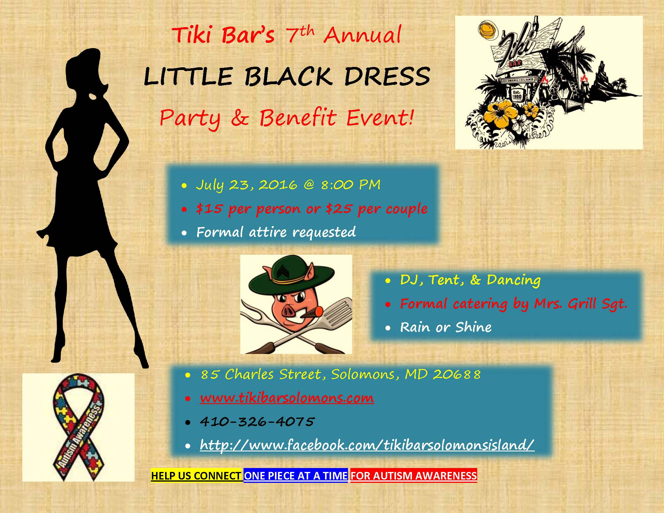 Tiki Little Black Dress Party Poster Final (2)