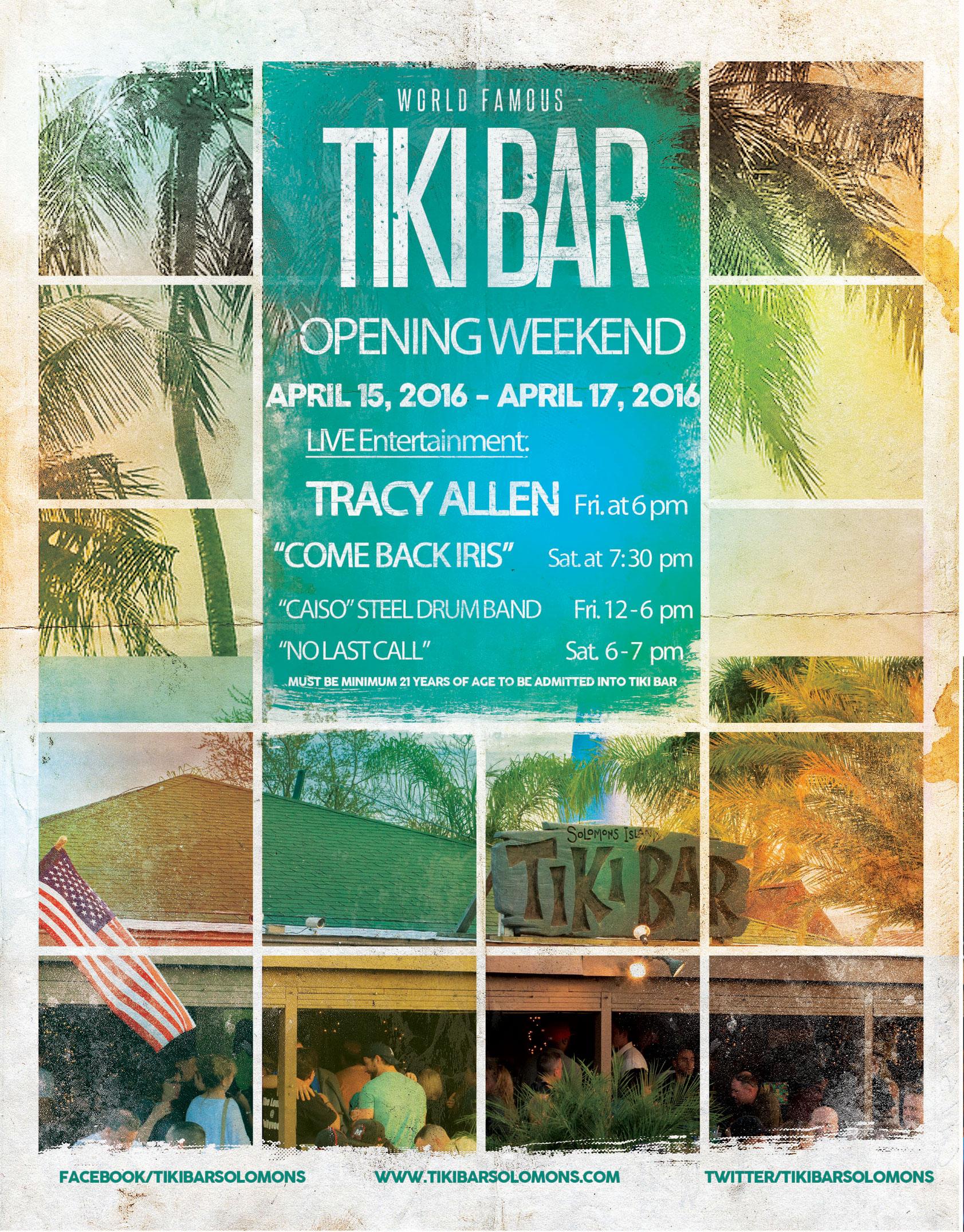 Tiki Opening Flyer 2016
